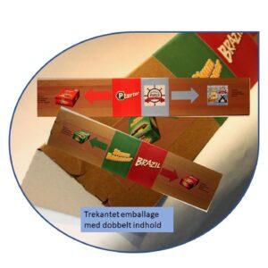 Tre kantet XL pak med dobbelt indhold